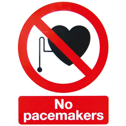 Sign: MRI - No Pacemakers- S/A